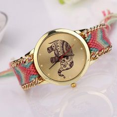 Macrame Boho Fashion Elephant Watch