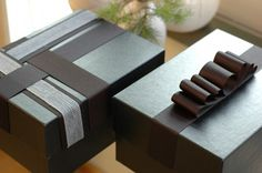 Reusable gift boxes made from old shoe boxes and craft scraps, great idea. These would also make great storage boxes!