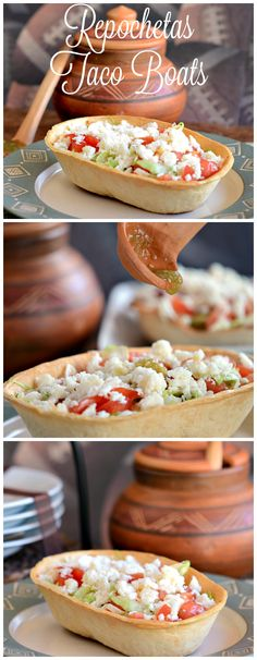 Enjoy this extremely easy to prepare and delicious to enjoy Repochetas Taco Boats Recipe. Cuban Recipes, Fall Recipes, Budget Recipes, Healthy Recipes, Delicious Desserts, Dessert Recipes, Yummy Food, Love Food, A Food