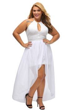 Stylish Lace Special Occasion Plus Size Dress https://www.modeshe.com