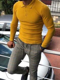 Royal Mustard Collared Polo Knitwear – MCR TAILOR