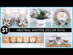 NEW DOLLAR TREE DIY COZY NEUTRAL WINTER Home Decor | Before & After CHRISTMAS | She So CraftDee - YouTube After Christmas, Christmas Crafts, Christmas Decorations, Christmas Ideas, Christmas Music, Dollar Tree Decor, Dollar Tree Crafts, Winter Home Decor, Winter House