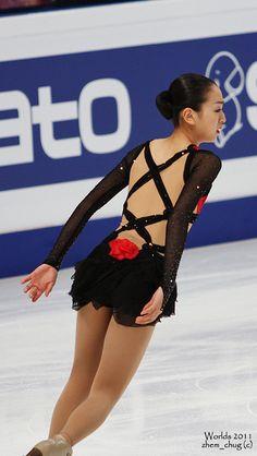 Mao Asada-Black Skating / Ice Skating dress inspiration for Sk8 Gr8 Designs.