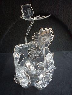 Peças decorativas que podem ser usadas como cachepôs, balas, bombons, bolinhas de gel ou para montagem de arranjos de flores natura...