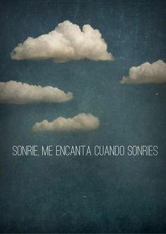 Me encanta cuando sonríes...:-)