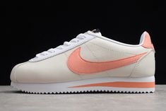 Wmns Nike Classic Cortez Leather Platinum Tint Bright Crimson 807471-018 Nike Classic Cortez Leather, Nike Shoes, Sneakers Nike, Game Black, Sneaker Games, Nike Outfits, Navy And White, Sneakers Fashion, Me Too Shoes