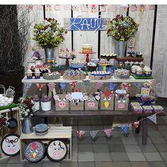 fazendinha por festa festafazendinha on Instagram Farm Party, Table Decorations, Instagram, Furniture, Home Decor, Kids Part, Girls, Cuddling, Fiestas
