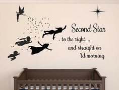 Peter pan Wall decal by SunshineGraphics88 on Etsy