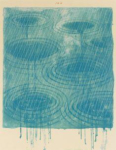 Rain, 1973, David Hockney.