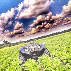 "Fan photo of the day! ""Scoutin Soybeans!"" via #sandersonfarming #soybeans15 #yamahagrizzly"