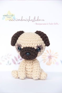 New Pug amigurumi option is now available in the shop! Order your own dog plush today #amigurumi ##pug #dog #plush Cute Gifts For Friends, Kawaii Gifts, Amigurumi Doll, Plushies, House Warming, Crochet Projects, Pugs, Cardmaking, Wish