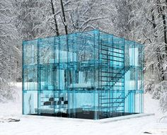 Glass house with gla