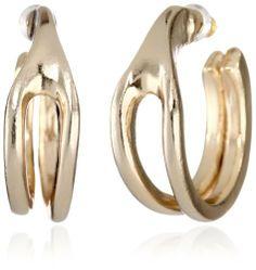 Belle Noel Wishbone Huggie Earrings Belle Noel. $80.00. 14kt yellow gold plated. Molten texture. Molten texture Made in CN. Made in China