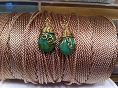 A personal favorite from my Etsy shop https://www.etsy.com/listing/214388575/earrings-wire-wrapped-green-agate