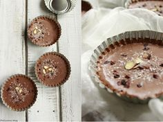 Nepečené čokoládovo-kokosové tartaletky Muffin, Drinks, Breakfast, Sweet, Blog, Drinking, Morning Coffee, Candy, Beverages