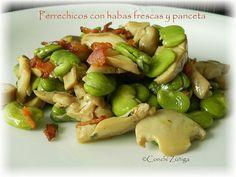 CocinandoSetas: Habas verdes con perrechicos y panceta.
