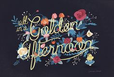 Alice and the flowers of Wonderland by Gemma Román hand lettering type typography illustration graphic design art