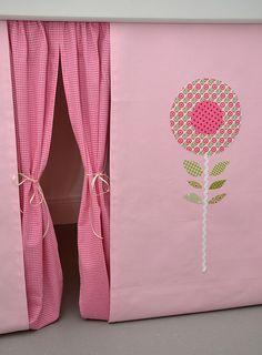 Gardinen & Vorhänge - ✻✻✻ Hochbettvorhang für das Spielbett Hochbett - ein Designerstück von sincerelyyours bei DaWanda