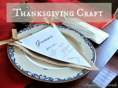 easy thanksgiving craft @cleverlyinspired (11) - Great way to tell people that you thankful for them.