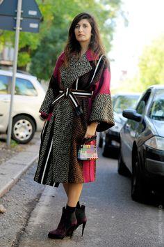 Valentina Siragusa after Fendi ready to wear SS16  on Via Solari. Milan 2015