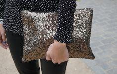 POLKA DOTS+LEO − Look de statebeauty en STYLIGHT #sequined #bag #clutch