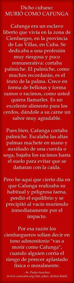 La historia del dicho cubano MORIR COMO CAFUNDA | The story behind the Cuban Spanish saying MORIR COMO CAFUNDA #Cuba #SpanishSayings