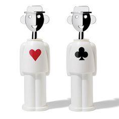 Alessandro Mendini corkscrews, Hearts & Clubs