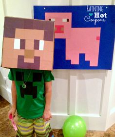 Check out this collection of Unique Minecraft Party Games here at Kara's Party Ideas. Indoor games and outdoor games, you'll find them all here! Minecraft Party Games, Minecraft Birthday Party, 6th Birthday Parties, Birthday Fun, Minecraft Crafts, Lego Minecraft, Minecraft Skins, Minecraft Buildings, Birthday Wishes