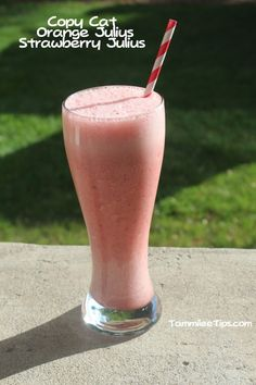 Copy Cat Orange Julius Strawberry Julius Recipe