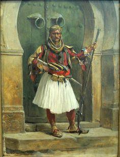 Paja Jovanović ( Vršac 1859 – Vienna a Serbian painter Albanian Culture, Central And Eastern Europe, Landsknecht, Sketch Painting, Military Art, Military Uniforms, Egyptian Art, Vintage Photographs, Illustrators