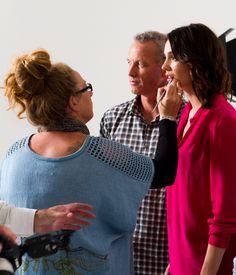 Behind-the-scenes on #TheBlockNZ presenter's photo shoot.