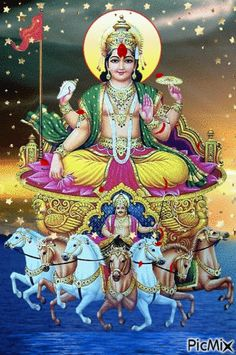 Solar Eclipse 2020 can cause unfavourable conditions to certain natives of rashis. The Surya Graha Shanthi Homam gives befitting solutions to all issues. Shiva Art, Ganesha Art, Hindu Art, Jai Ganesh, Good Morning Gif, Good Morning Picture, Morning Images, Morning Quotes, Radha Krishna Photo