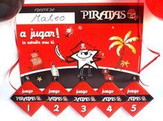 PACK DE 5 JUEGOS DE PIRATAS - Conviértete en una estrella del abordaje y disfruta de tu fiesta de cumpleaños, comunión o fiesta infantil temática jugando con todos tus amigos a los JUEGOS de PIRATAS. ¡¡DIVIÉRTETE, ya verás como os lo pasáis!!! $9.60