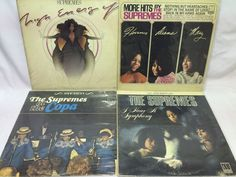 The Supremes Lot of 4 Vinyl Record Albums- At the Copa Symphony More of MOTOWN