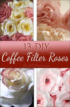 50 Ideas For Flowers Diy Coffee Filter Coffee Filter Roses, Coffee Filter Art, Coffee Filter Wreath, Coffee Filter Crafts, Handmade Flowers, Diy Flowers, Fabric Flowers, Flower Diy, Wedding Flowers