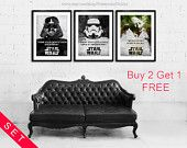 Buy 2 Get 1 FREE. Star Wars Master Yoda  poster. Star Wars Darth Vader poster. Movie poster. Star Wars Stormtrooper poster. Star Wars quote.