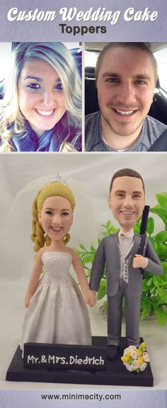 Bridal shower cake topper grooms ideas for 2019 Funny Wedding Cake Toppers, Personalized Wedding Cake Toppers, Wedding Cake Stands, Custom Cake Toppers, Wedding Cake Fresh Flowers, Beautiful Wedding Cakes, Bridal Shower Cakes, Bridal Shower Rustic, Wedding Cake Figurines