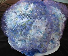 Vintage Sunday Best Purple Flowers Netted Bouffant Womans Hat