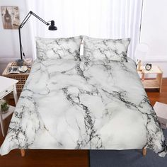 marble texture Description >>The bedding set comes with one duvet cover and two matching pillowcases, comforter/quilt is not included. [Material]: Polyester, Silk Like Fabric, Soft And Duvet Cover Sizes, Quilt Cover Sets, Duvet Covers, Bedding Sets, Linen Bedding, Bed Linens, Marble Bedding, Marble Print, Marble Texture