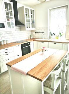 My white bodbyn kitchen ? Ikea Bodbyn Kitchen, Ikea Sektion Cabinets, Black Kitchens, Home Kitchens, Kitchen White, Küchen Design, Interior Design, Kitchen Gallery, Black Walls