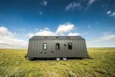 Tumbleweed Tiny Houses produces a wide range of modern and traditional houses. Their Farallon is a traditional farmhouse form that adds modern materials and amenities to give you a tiny house that has all the comforts of home. Tiny House Company, Tiny House Plans, Tiny House On Wheels, Two Bedroom Tiny House, Tiny House Living, Tiny Houses For Sale, Little Houses, Tumbleweed Tiny Homes, Weekend House