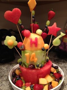 Fruit Cake Made From Real Birthday Ideas