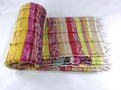 Hand Loom Chindi Carpet Rag Rug Floor Yoga Mat Indian Eco Beach Kilim Throw W006 #Unbranded #RagRug
