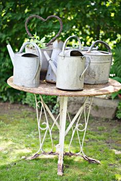 Zinc  You can NEVER HAVE TOO MUCH!!! I love old watering cans. My Garden Shed is full!  ~sandra de~Amaranthus~