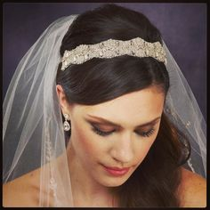 This piece is so lightweight but has an encrusted look brides love