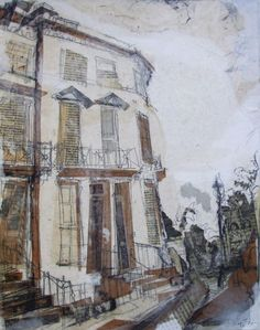 Eton Terrace, Stockbridge Collage with Pencil and Ink, 2014