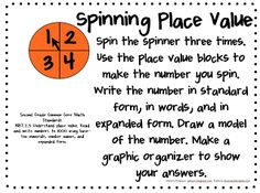 Here's another quick place value activity for a math station.   You need a numbered spinner, place value blocks, paper, and pencil.        ...