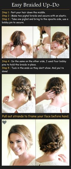 Easy Braided Up-Do for Medium Hair