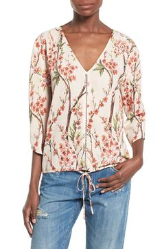 Love Sadie V-Neck Floral Print Blouse available at #Nordstrom