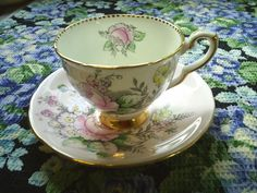 Pink 'Roseborough' Cup & Saucer